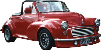 customised morris minor turbo
